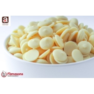 Aalst Chocolate Couverture Buttons White 10Kg